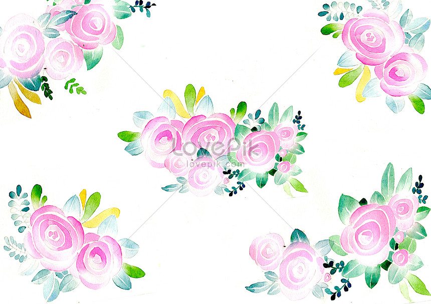 watercolor and flower background