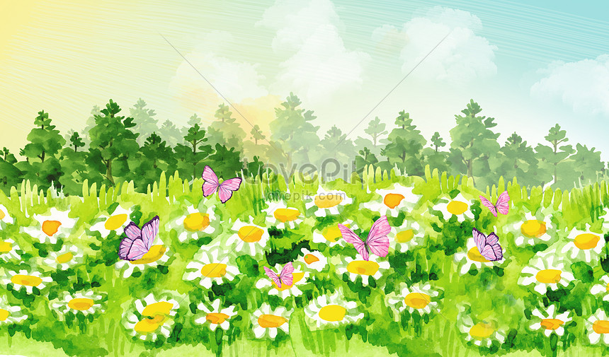 in the warm spring flowers are coming out with a rush