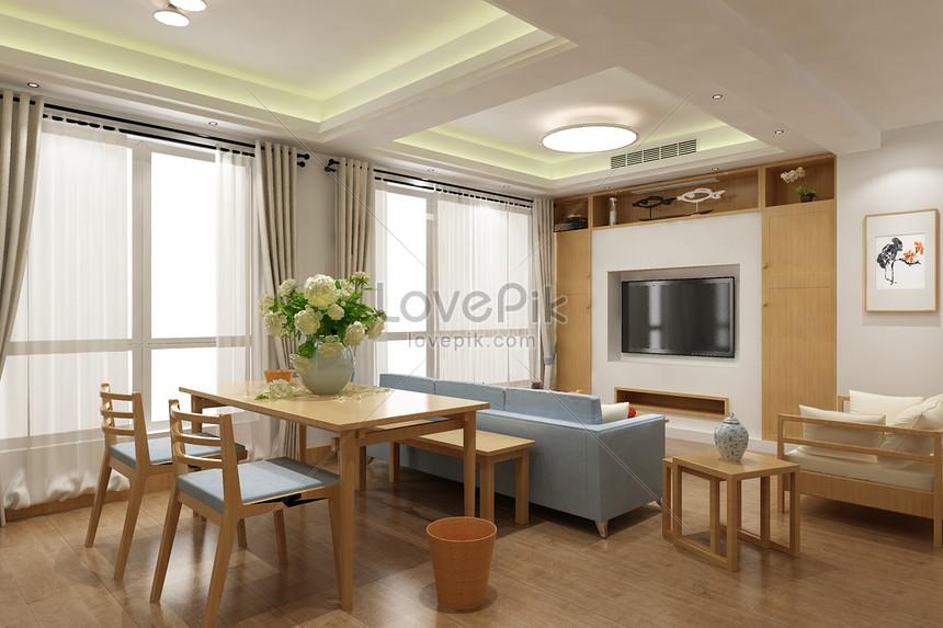 Photo de effet salon simple décoration_Numéro de l