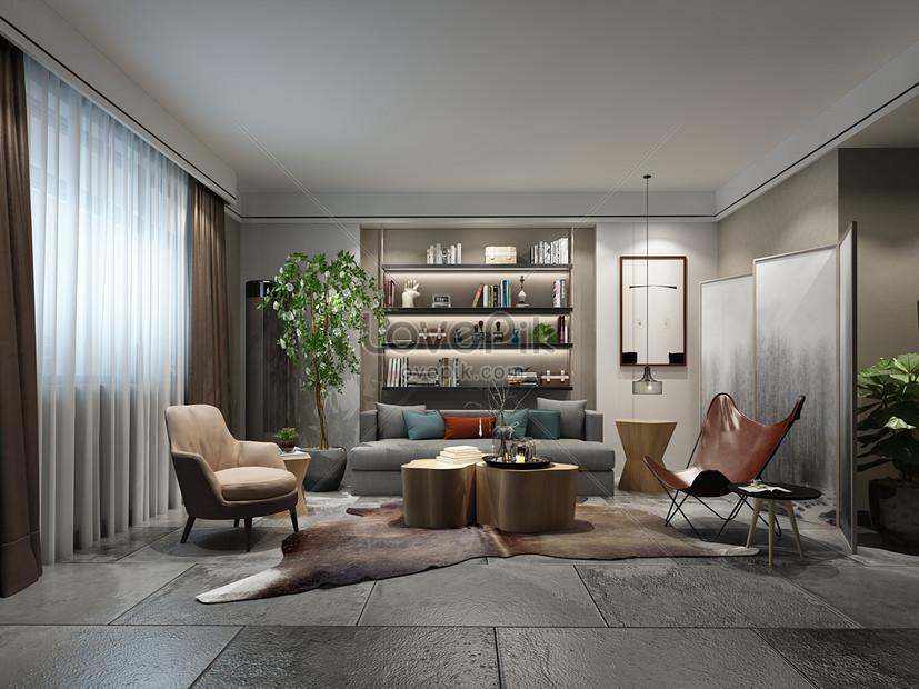 design de decoração de sala de estar