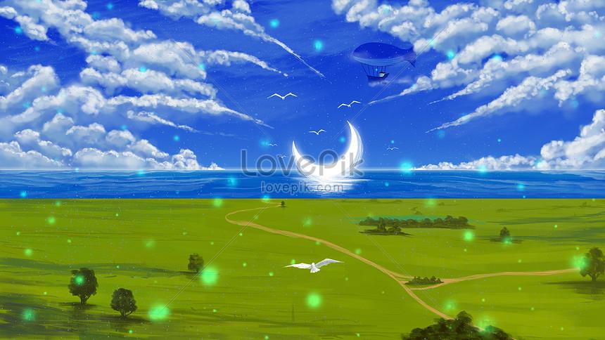 ファンタジー風景イラストイメージ 図 Id Prf画像フォーマットpsd Jp Lovepik Com