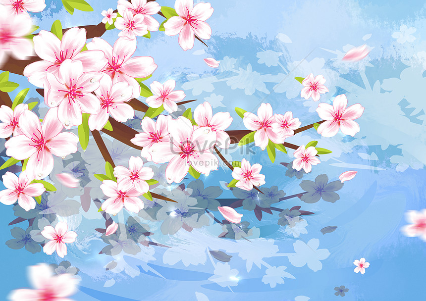 spring cherry illustration
