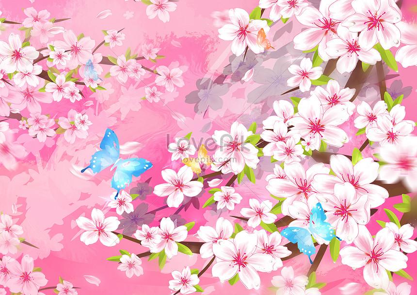 the sakura butterfly spring garden