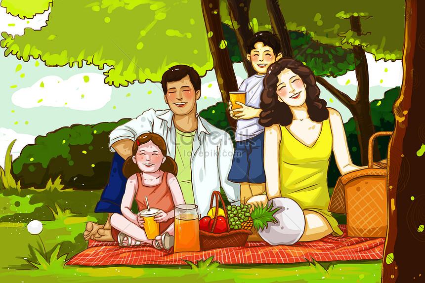 рисунок пикник с семьей тоже, почему