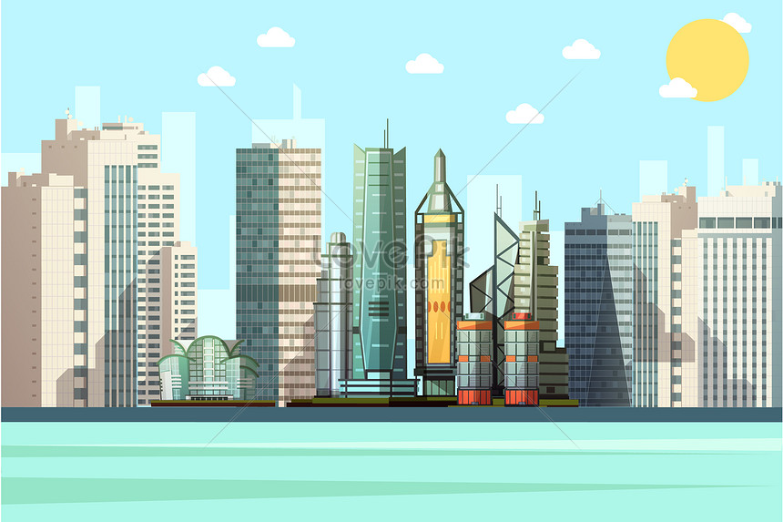 Cartoon City Vector Building Illustration Image Picture