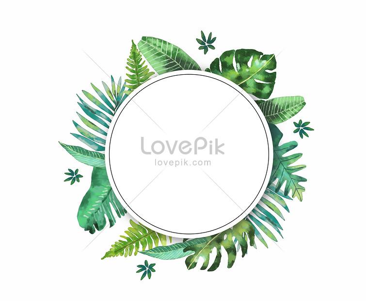 watercolor leaf border