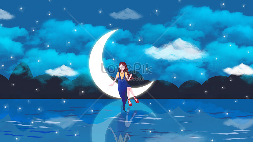 Starry Sky Fantasy Sun Moon Star Wallpaper Illustration Image Picture Free Download 400114141 Lovepik Com