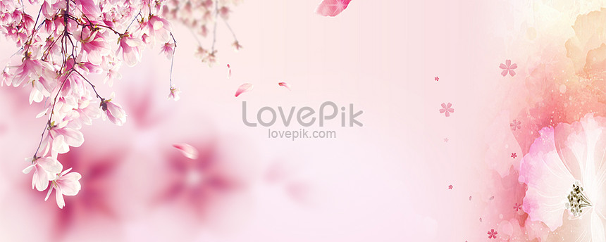 pink flower romantic posters background