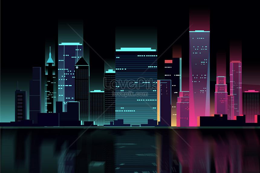 扁平矢量城市建築