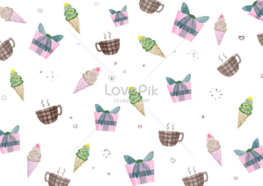 coffee ice cream background