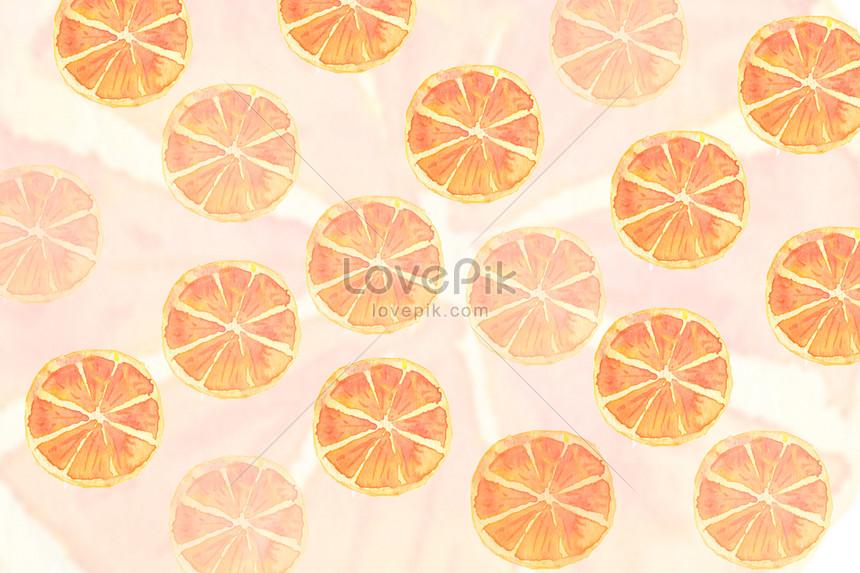 檸檬片水彩背景