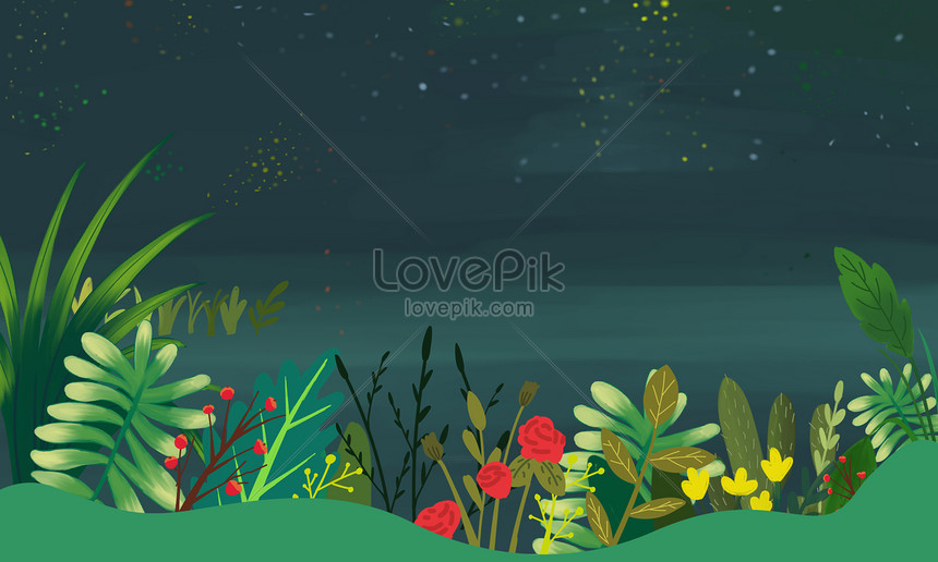 green leaf background material
