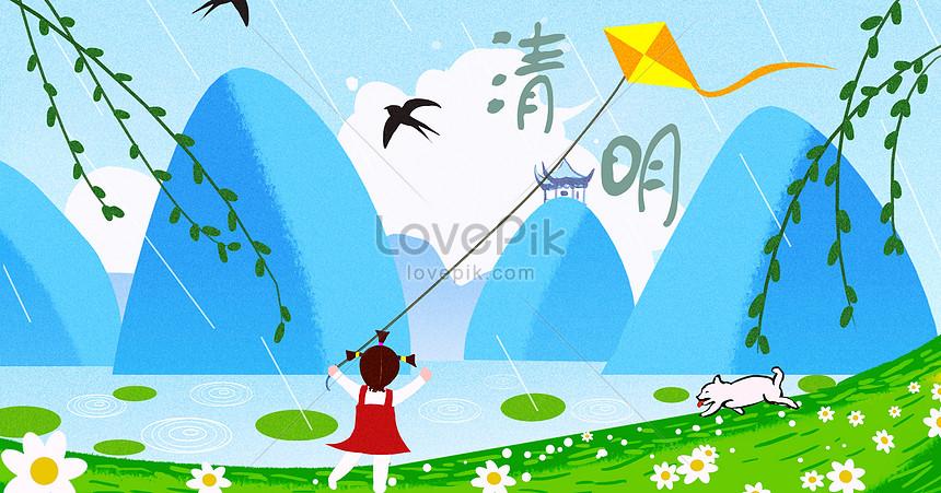 kite flying in the qing ming festival