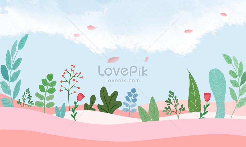 small fresh flower background