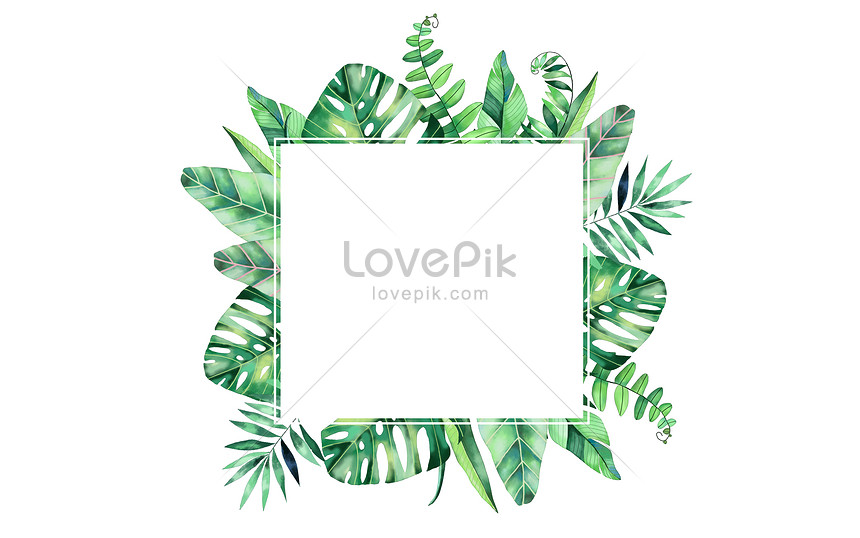 Small Fresh Tropical Green Leaves Background Illustration Image Picture Free Download 400119582 Lovepik Com Leaf tropical green alpha masked. small fresh tropical green leaves