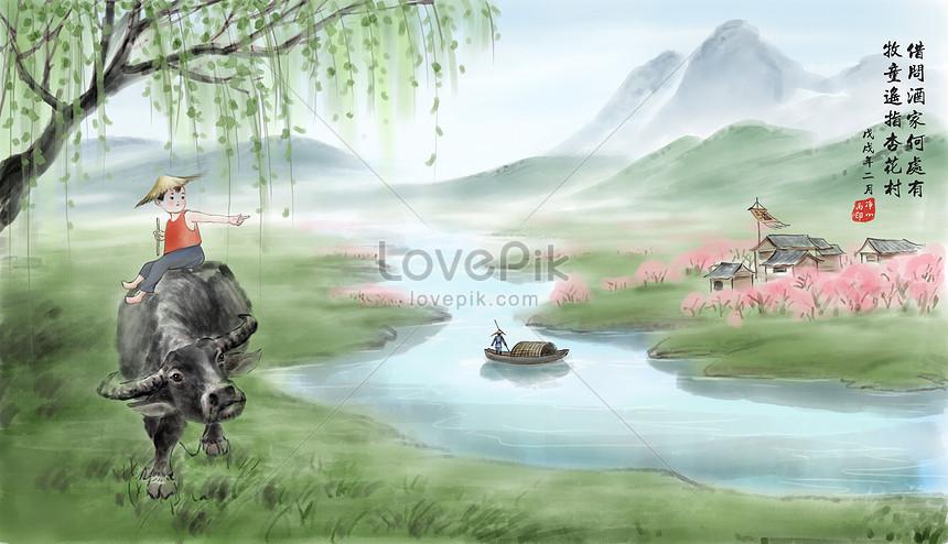 the shepherd boy points at xinghuacun