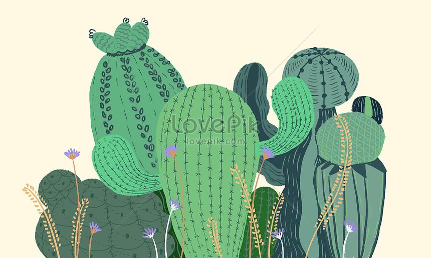 ウチワサボテンの植物新鮮なイラストイメージ図 Id 400120969prf画像