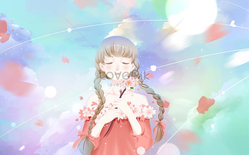dreamy cherry blossom girl