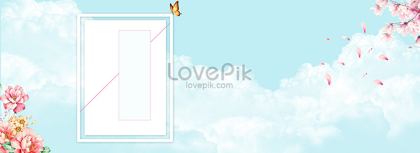 the background of womens clothes posters in the blue new spring