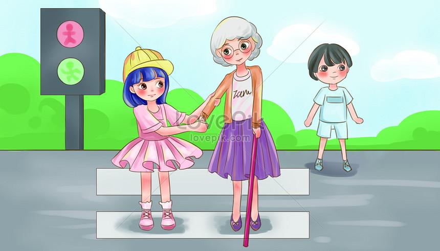 20 inspirasi gambar anak kartun mebantu orang tua soho