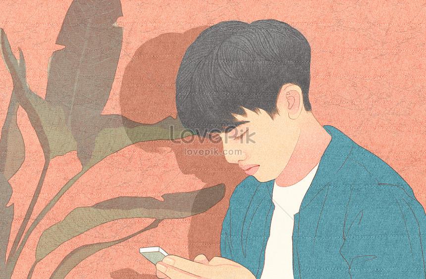 ハンサムな弟の背景イラストイメージ図 Id 400126067prf画像
