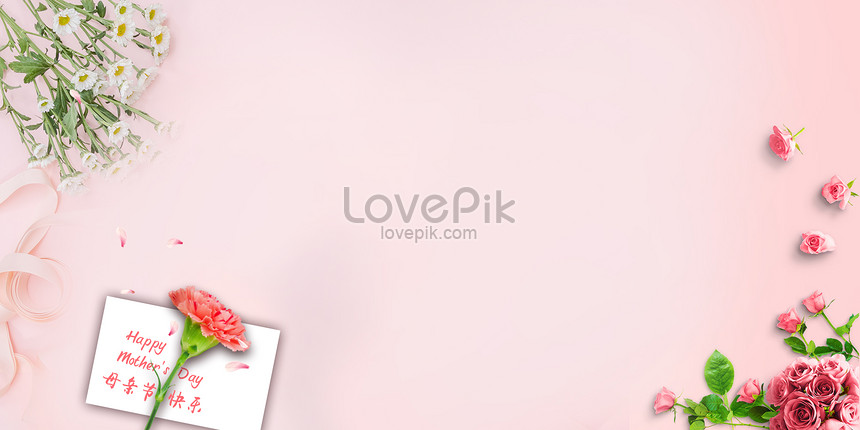 romantic mothers day flower background