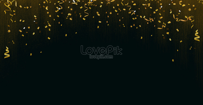 atmospheric background of black gold colored ribbons