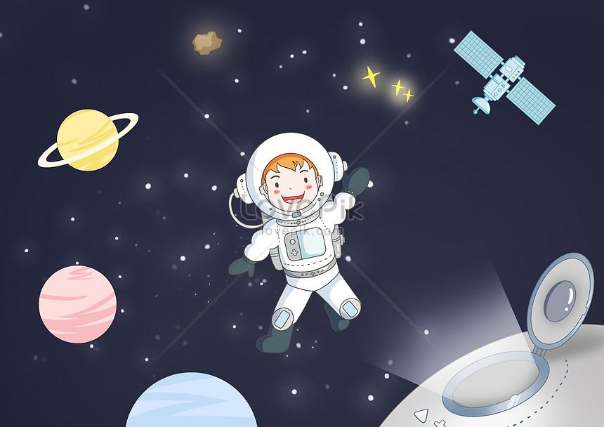 นักบินอวกาศในอวกาศ