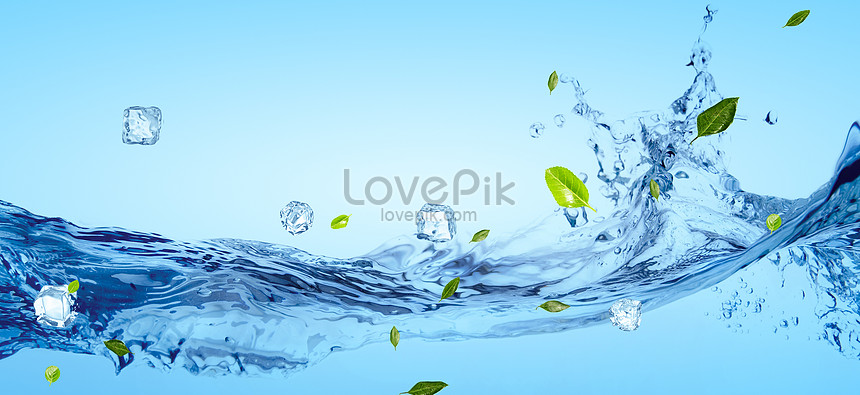 fresh water wave banner