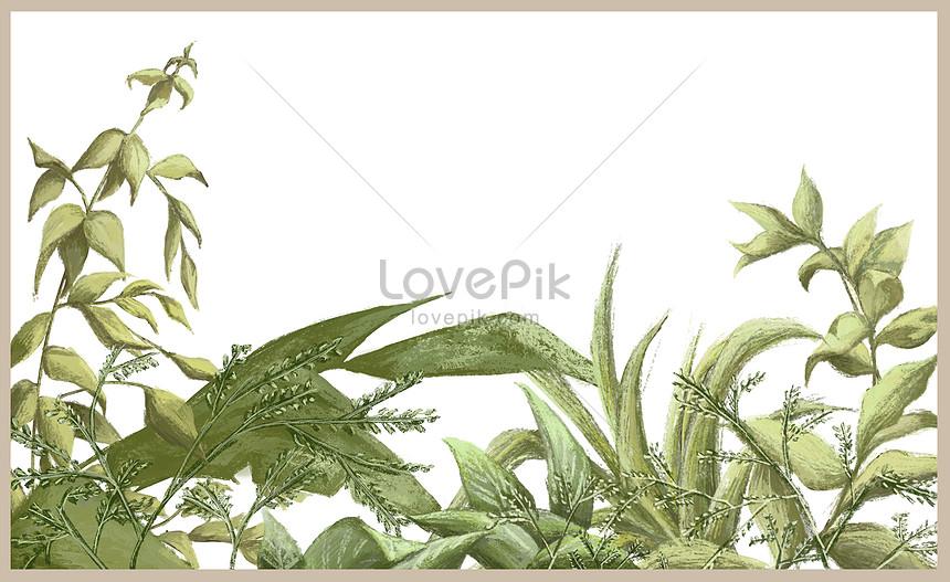 ilustración de fondo de la planta