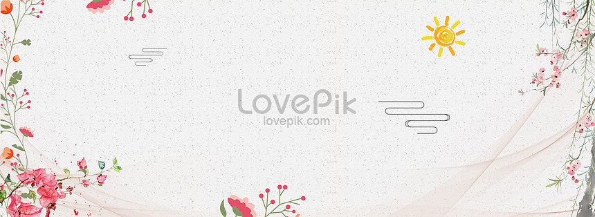 banner background of mothers day literature and art