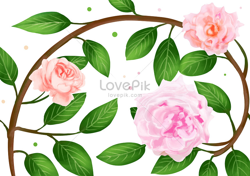 Bahan Bunga Ros Gambar Unduh