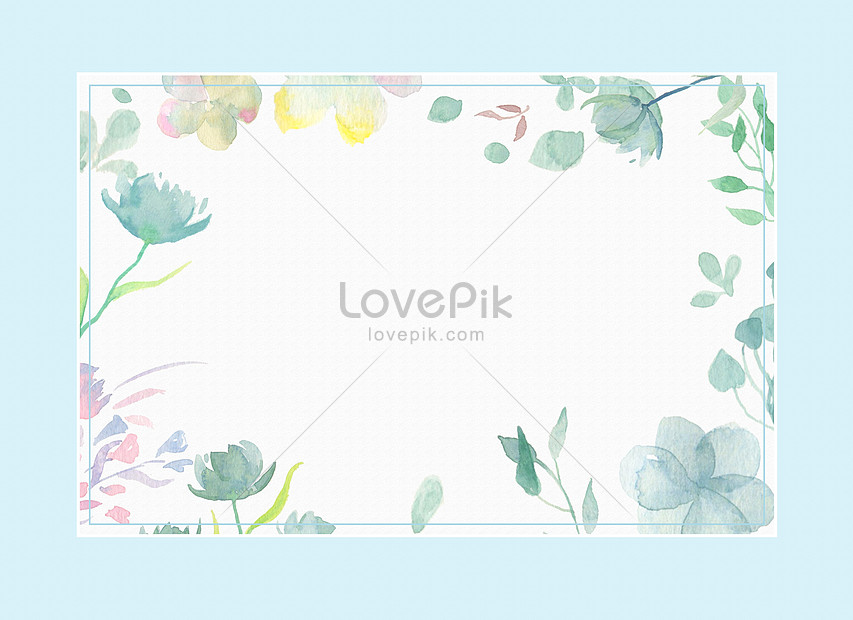 blue and fresh watercolor background