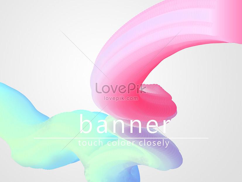 Cool powder blue fluid gradient ppt background material illustration