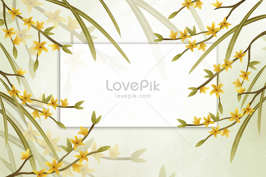 beautiful yellow flower border background illustration image picture free download 400137886 lovepik com beautiful yellow flower border