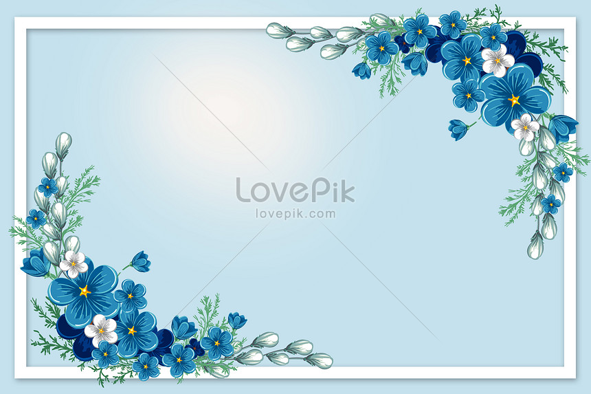 blue and fresh flower background
