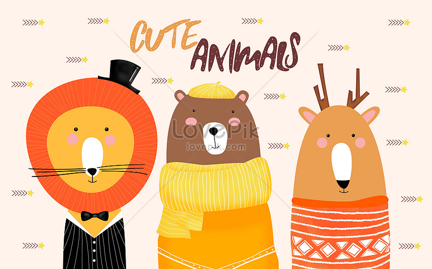 hand painted cartoon animals