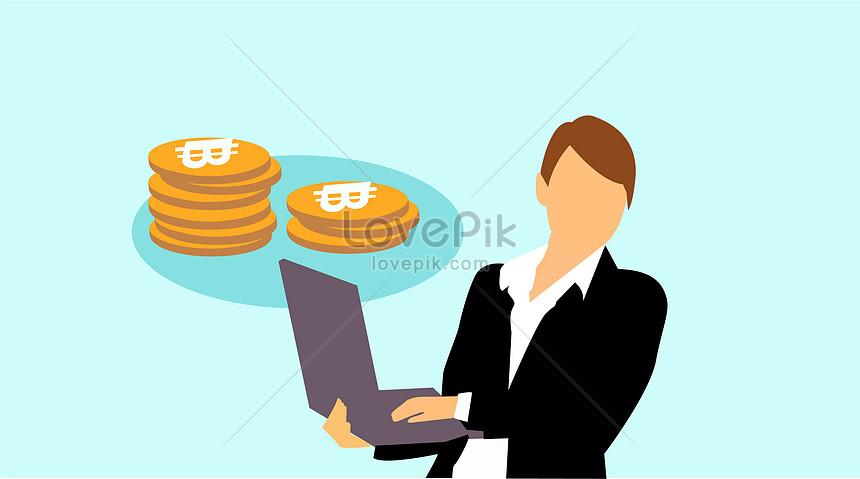 bitcoin ব্যবসা ভেক্টর প্রতিকৃতি