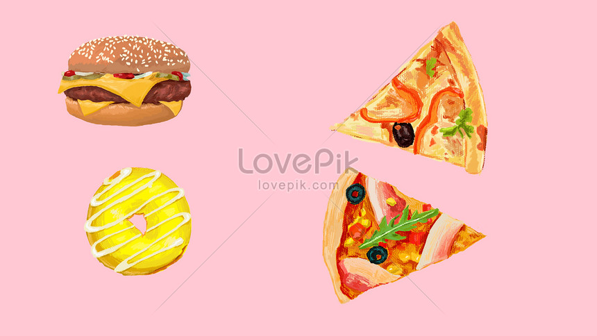 hand painted food material