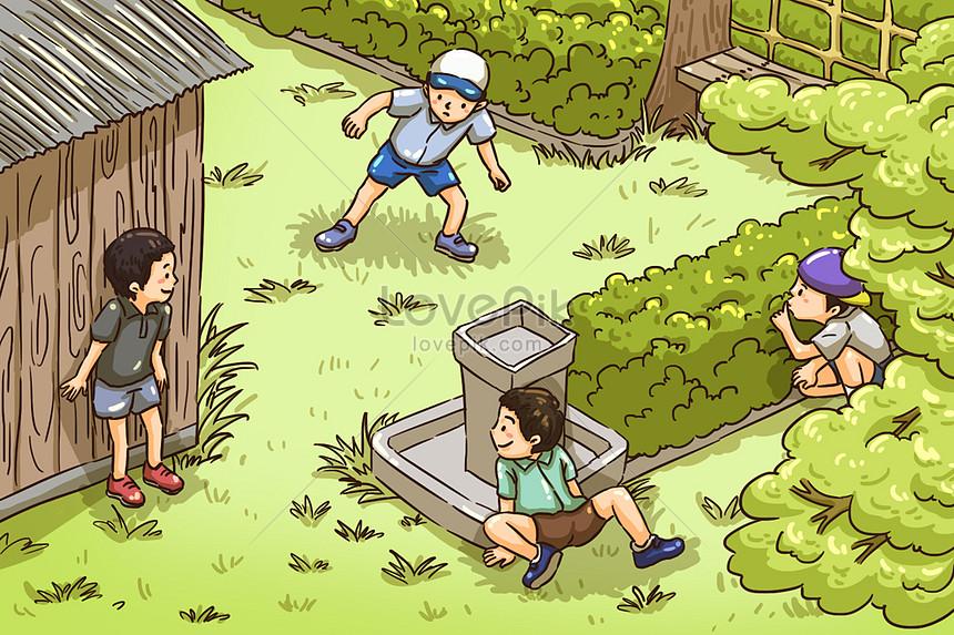 ilustración del día de los niños