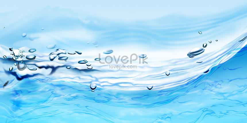夏の冷たい水の背景