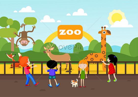 Kebun Binatang Gambar Unduh Gratis Ilustrasi 400166043format