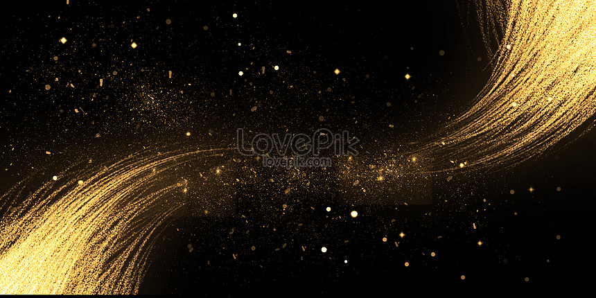 black golden background