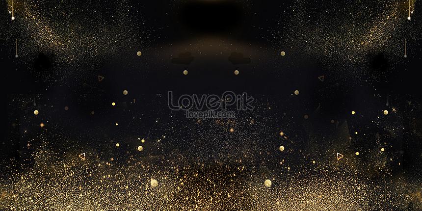 black golden background