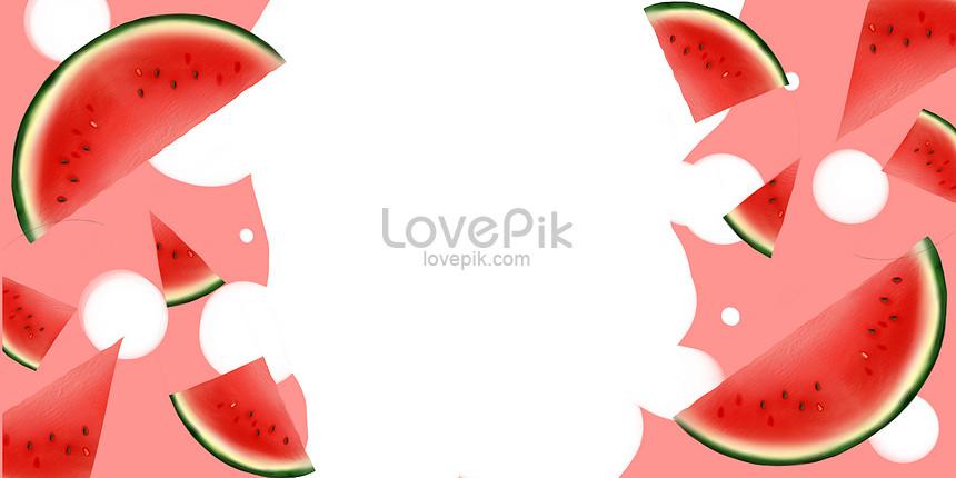 ภาพประกอบวอลล์เปเปอร์แตงโมผลไม้สด
