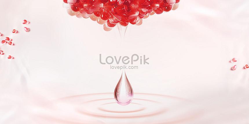 pink pomegranate background