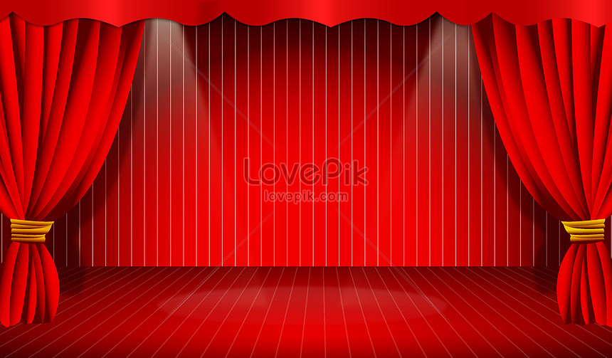 a stage background