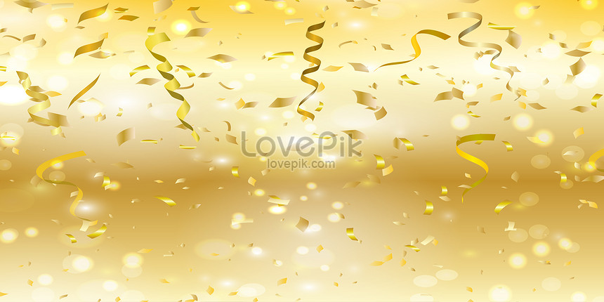 gold plated ribbon background