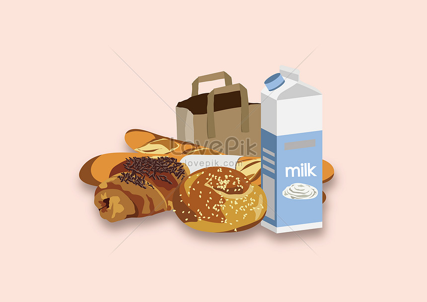 bread and milk breakfast