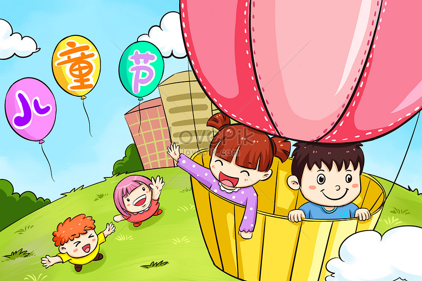 hot balloon released on childrens day